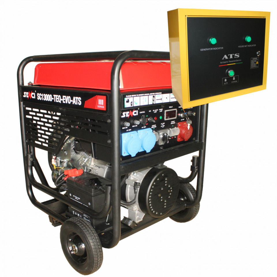 Generator trifazat SC13000TEQ-EVO-ATS Putere max. 11 kW, 400V AVR si automatizare imagine SENCI albertool.com