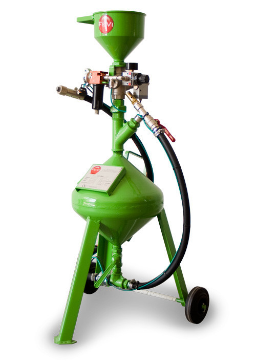 Masina de sablat cu abraziv - 8 litri - fara recuperare FEVI-SABIX-8-Base Fevi