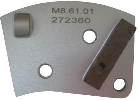 Placa cu segmenti diamantati pt. slefuire pardoseli - segment DPC - prindere M8 - DXDH.8508.61.01-R DiamantatExpert