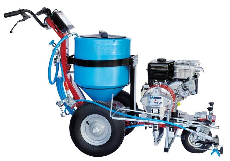 Pompa airless pentru trasat marcaje rutiere Larius Ecalibur rezervor GRAVITY 2X30 LT imagine 2021