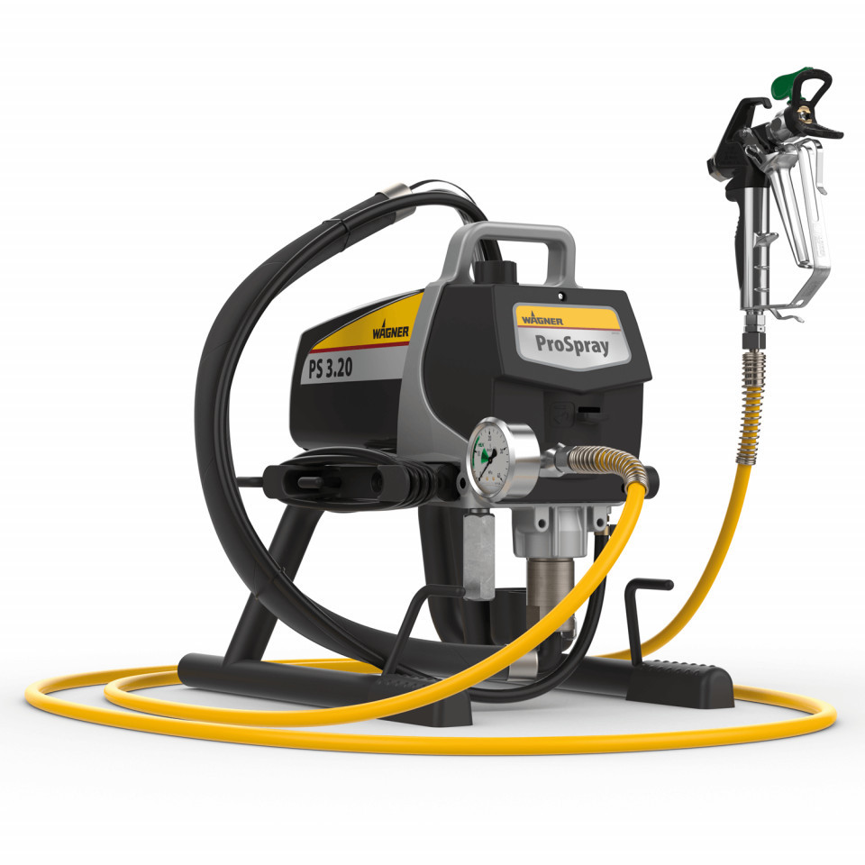 "Pompa airless Wagner Pro Spray 3.21 HEA Skid, debit material 2 l/min, duza max. 0,023"", motor electric 1,03 kW imagine Titan - Wagner albertool.com"