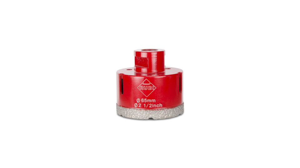 Carota diamantata pt. portelan, placi ceramice DryGres 65mm - RUBI-4916 RUBI