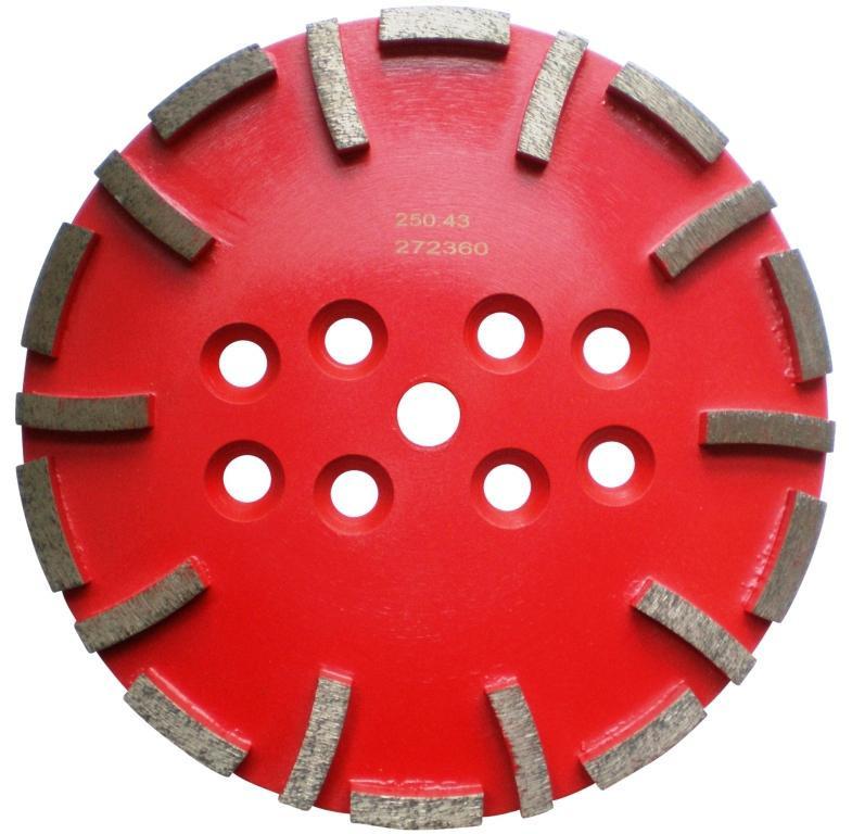 Disc cu segmenti diamantati pt. slefuire pardoseli - segment mediu - Rosu - 250 mm - prindere 19mm - DXDH.8500.250.43 DiamantatExpert
