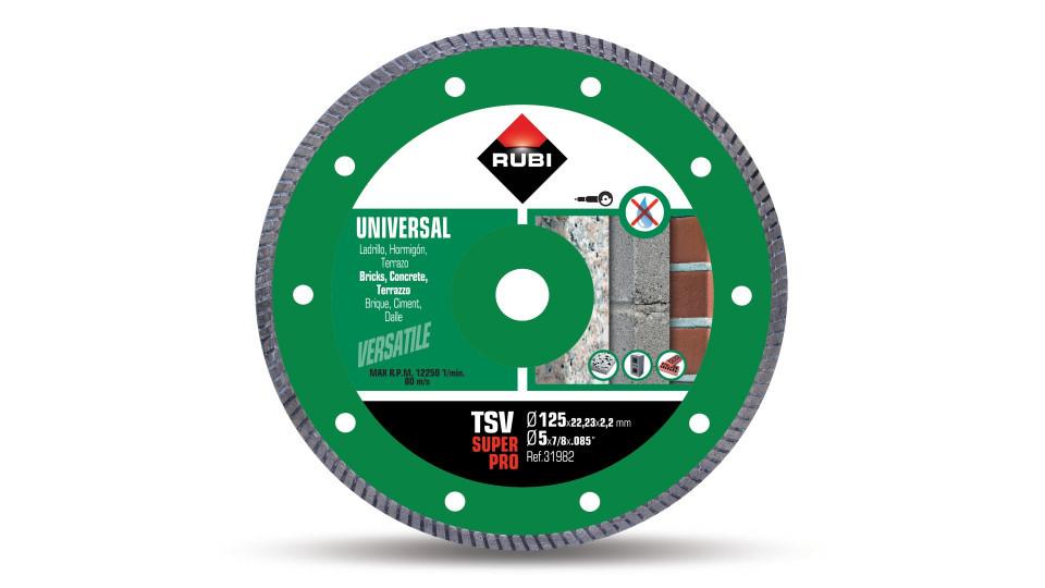 Disc diamantat pt. beton si caramida 125mm, TSV 125 Pro - RUBI-31980 imagine 2021