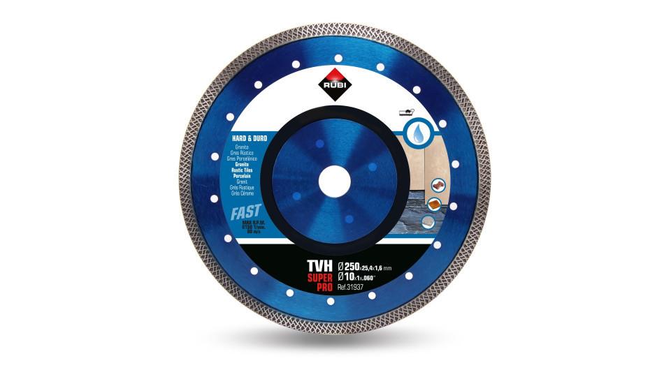 Disc diamantat pt. materiale foarte dure 250mm, TVH 250 SuperPro - RUBI-31937 RUBI