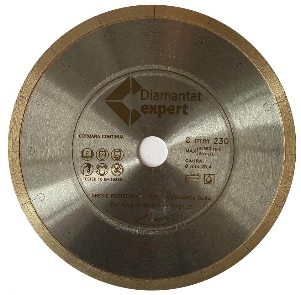 Disc DiamantatExpert pt. Portelan dur, Placi ceramice dure 230x25.4 (mm) Ultra Premium - DXWD.MSU.230.25 DiamantatExpert