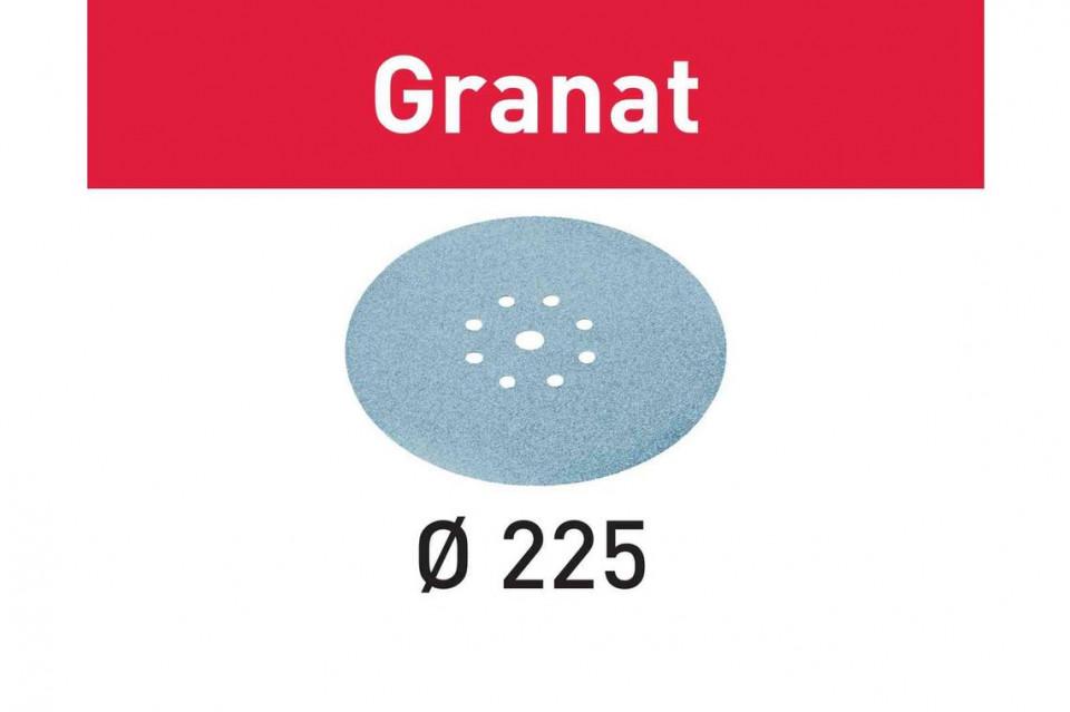 Foaie abraziva STF D225/8 P80 GR/25 Granat imagine Festool albertool.com