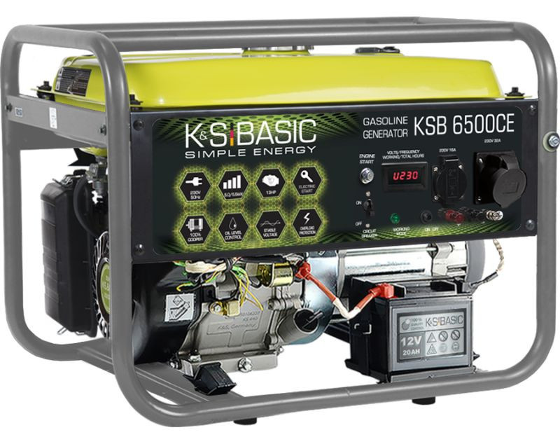 Generator de curent 5.5 kW benzina BASIC LINE - Konner & Sohnen - KSB-6500CE imagine Konner & Sohnen albertool.com