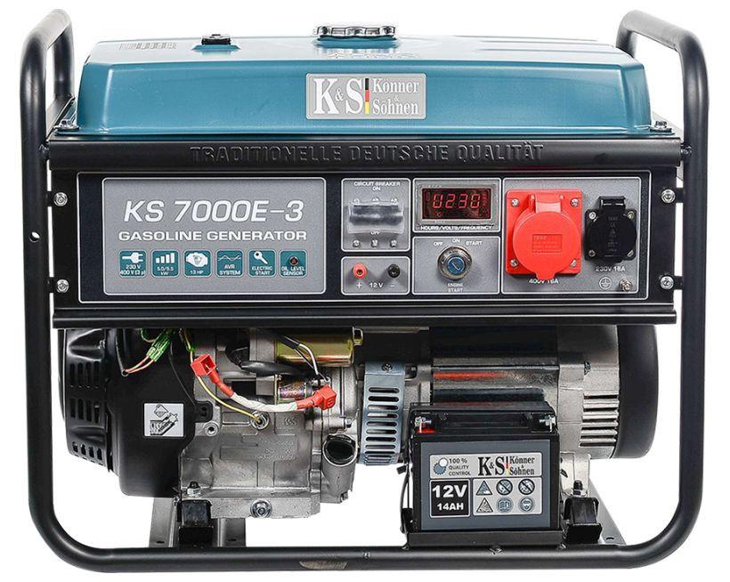 Generator de curent 5.5 kW benzina PRO - Konner & Sohnen - KS-7000E-3 imagine Konner & Sohnen albertool.com