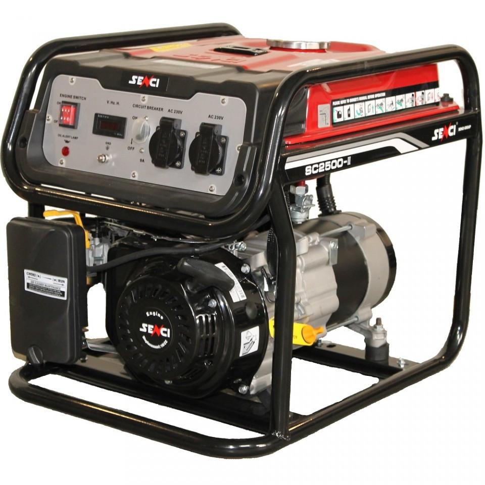 Generator de curent Senci SC-2500, 2200W, 230V - AVR inclus, motor benzina imagine SENCI albertool.com