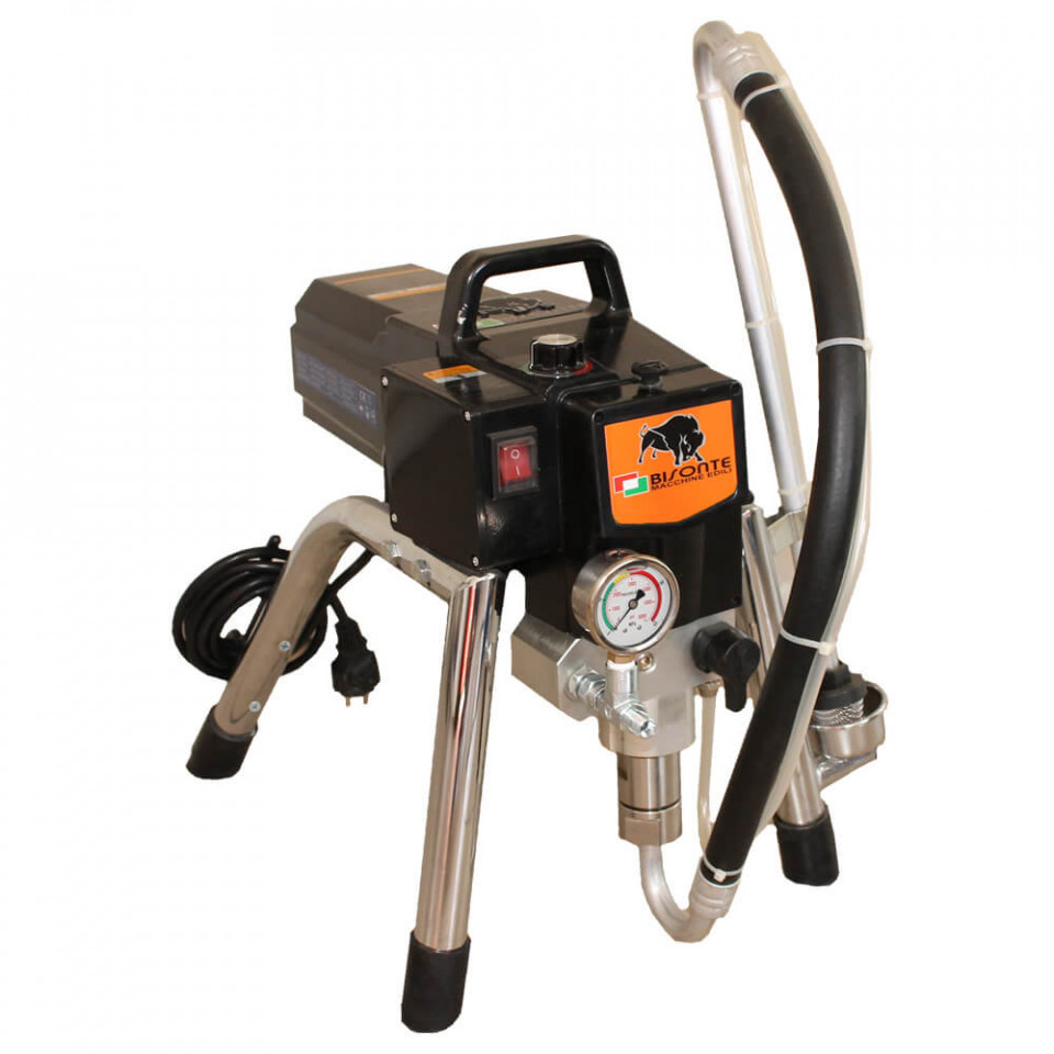 Pompa airless Bisonte cu piston, PAZ-6321 debit 2,2 l/min., motor 1300W imagine Bisonte albertool.com