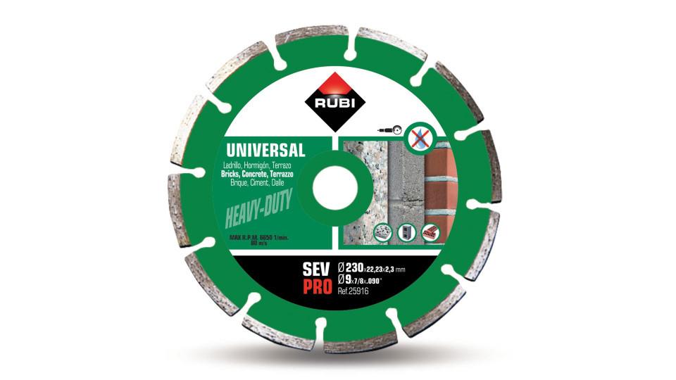 Disc diamantat pt. beton si caramida 230mm, SEV 230 Pro - RUBI-25916 RUBI