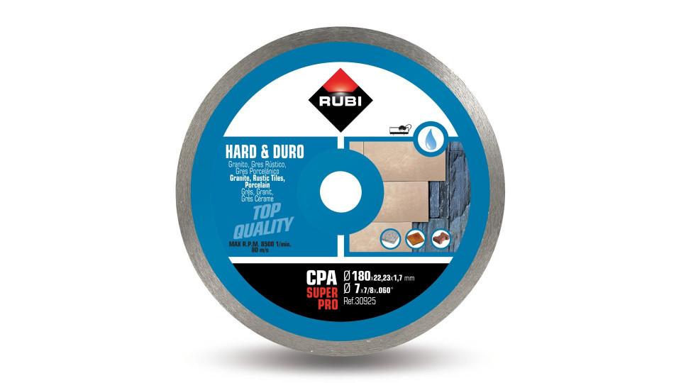 Disc diamantat pt. materiale foarte dure 180mm, CPA 180 SuperPro - RUBI-30925 RUBI