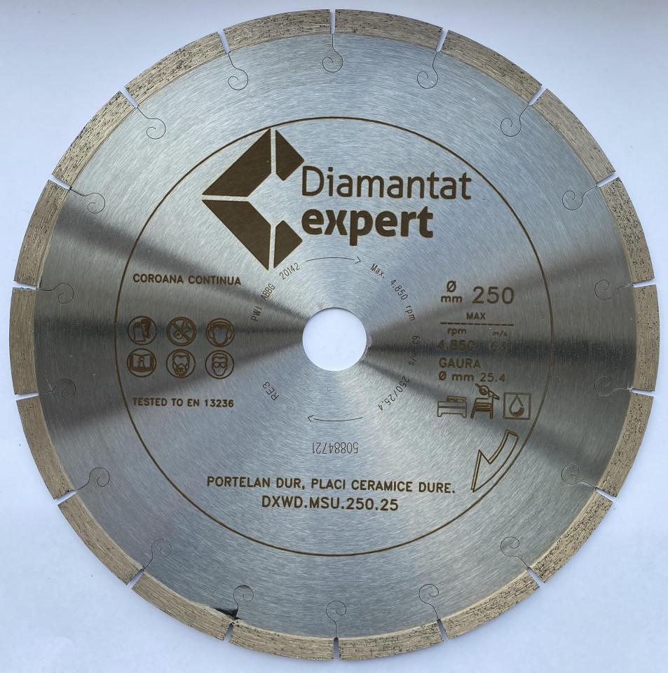 Disc DiamantatExpert pt. Portelan dur, Placi ceramice dure 250x25.4 (mm) Ultra Premium - DXWD.MSU.250.25 DiamantatExpert
