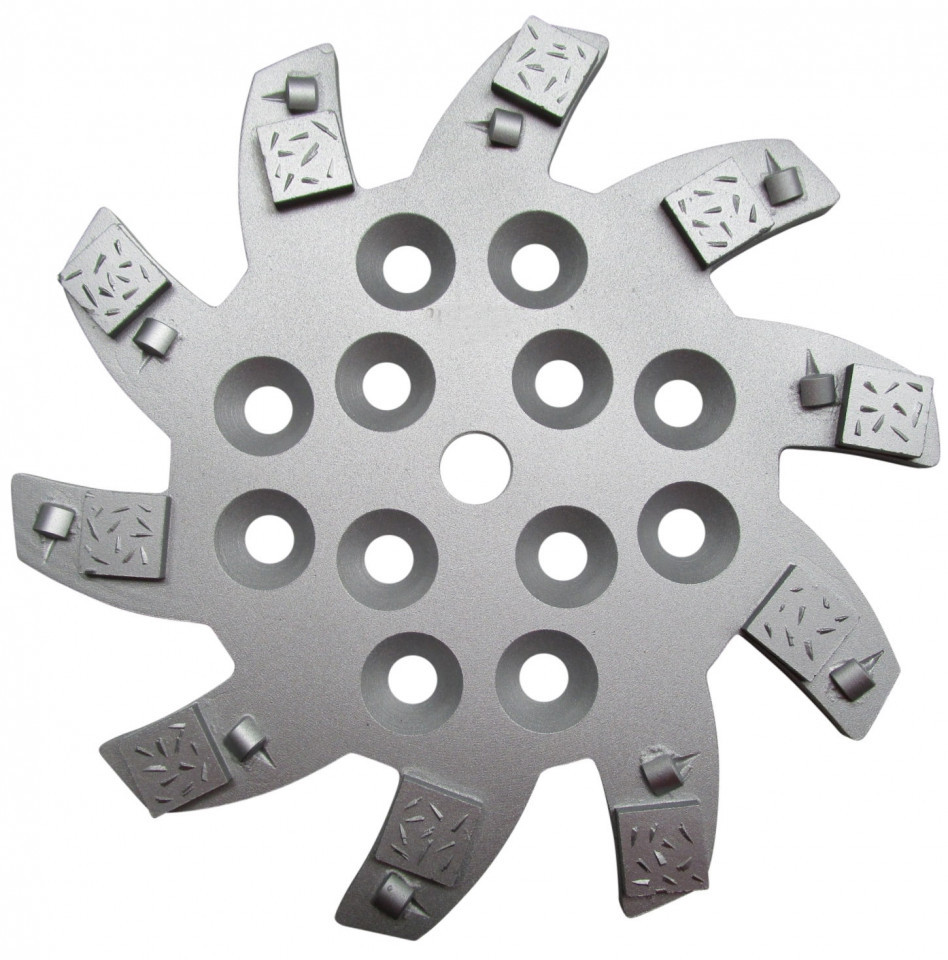 Disc stea cu segmenti diamantati pt. slefuire pardoseli - segment 10 buc DPC - 250 mm - prindere 19mm - DXDH.8501.250.75.010-R DiamantatExpert