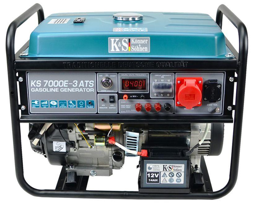 Generator de curent 5.5 kW benzina PRO - Konner & Sohnen - KS-7000E-3-ATS imagine Konner & Sohnen albertool.com