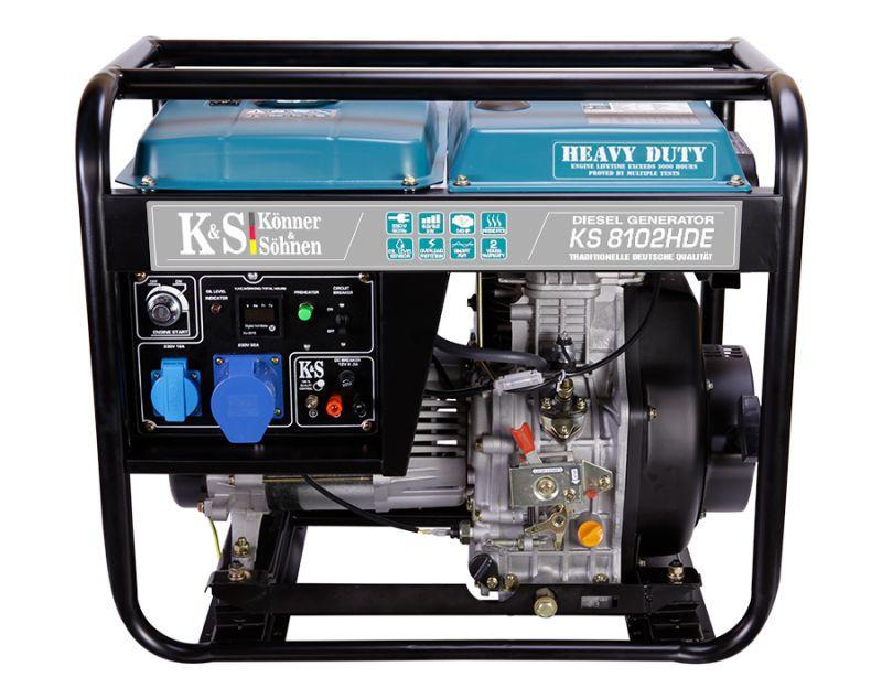 Generator de curent 6.5 kW diesel - Heavy Duty Euro 2 - Konner & Sohnen - KS-8102DE-HD imagine Konner & Sohnen albertool.com