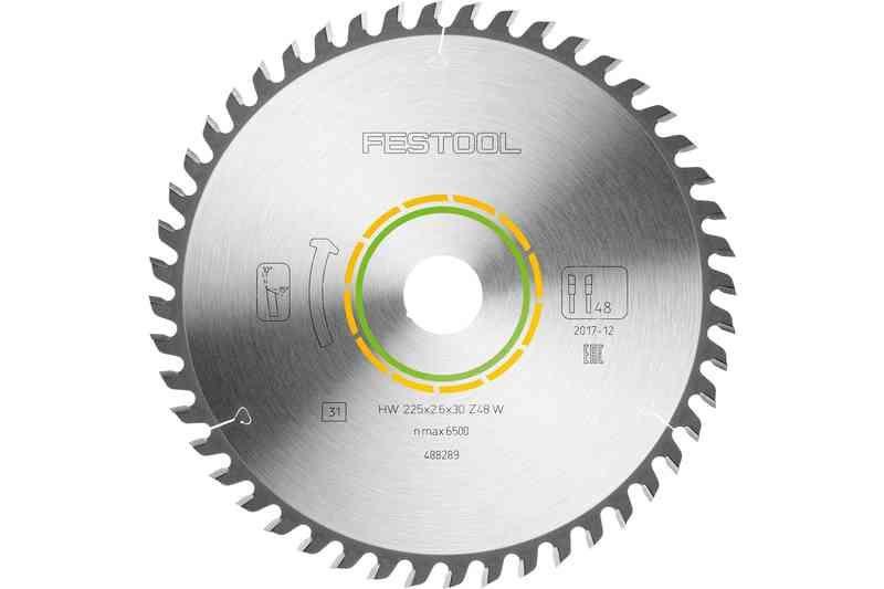 Panza de ferastrau circular cu dinti fini 225x2,6x30 W48 imagine Festool albertool.com