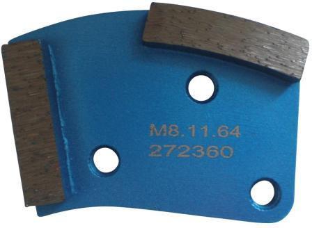 Placa cu segmenti diamantati pt. slefuire pardoseli - segment fin (albastru) - # 40 - prindere M8 - DXDH.8508.11.64 DiamantatExpert