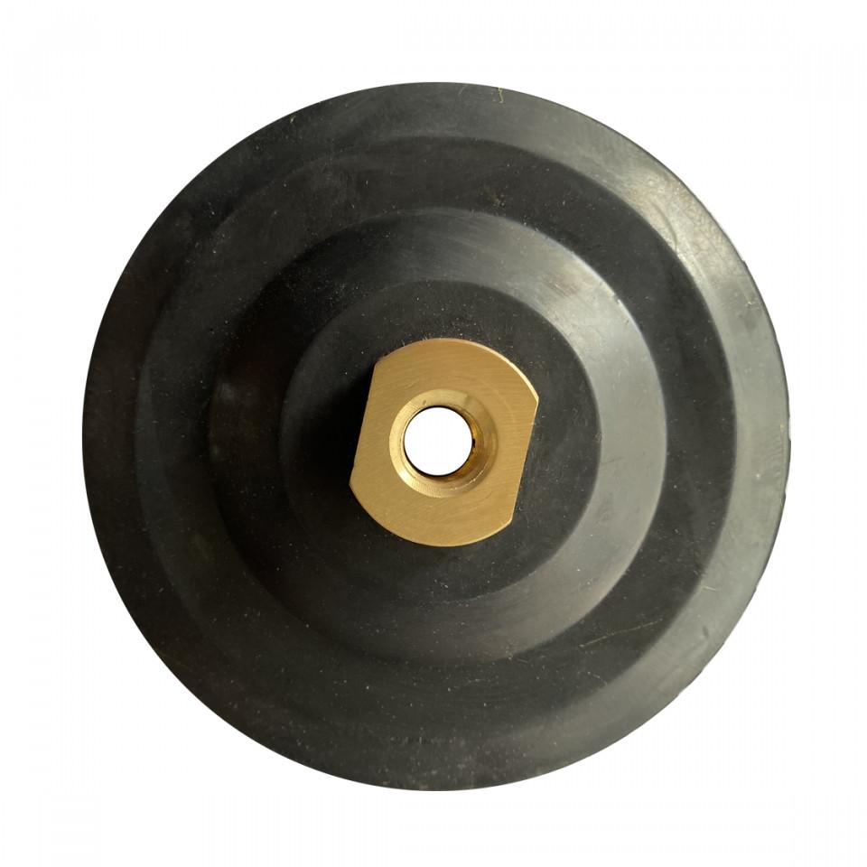 Suport flexibil pt. dischete / paduri diamantate cu velcro Ø125mm - prindere M14 -DXDY.PADSUP.RUB.125 DiamantatExpert