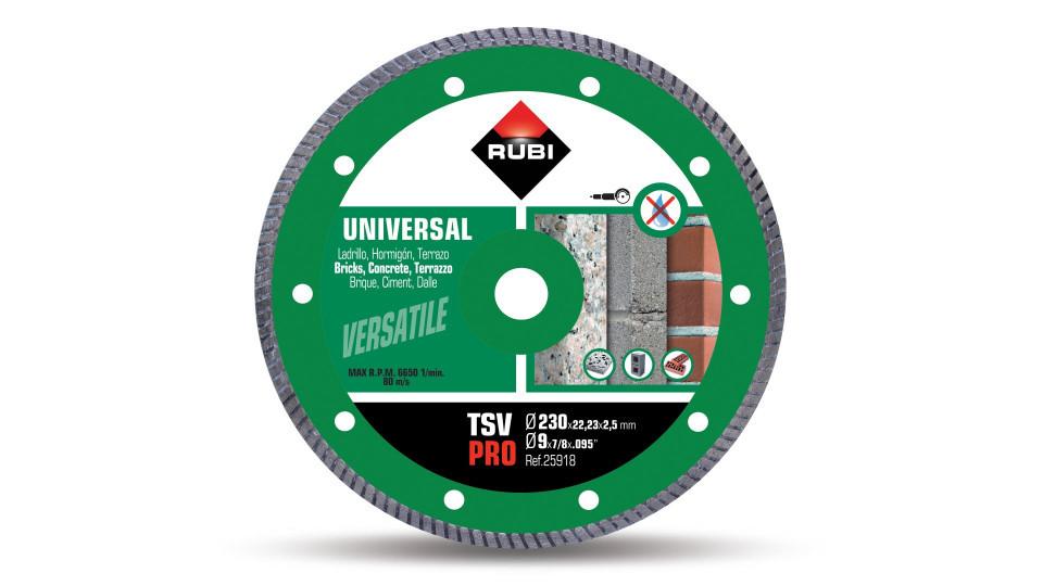Disc diamantat pt. beton si caramida 230mm, TSV 230 Pro - RUBI-25918 RUBI