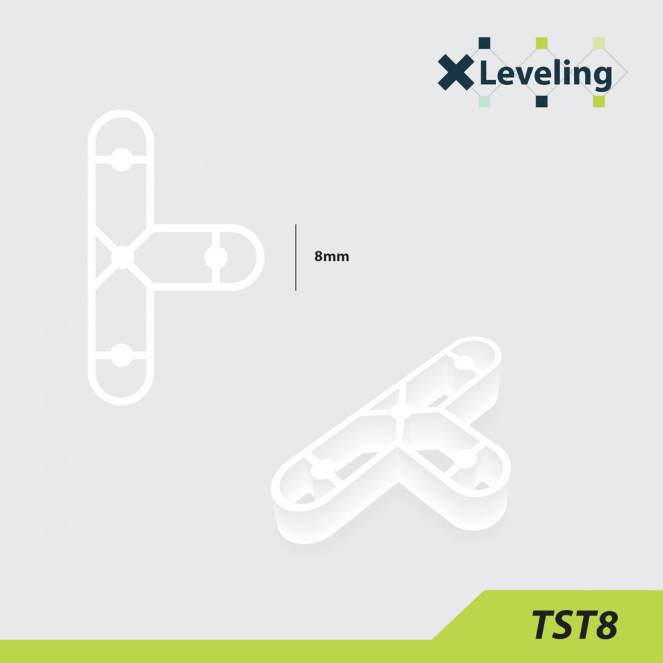 Distantieri tip T ( Teuri ) pt. placi - gresie si faianta - Rost 8 mm - 250 buc - XLEV-TST8-250 XLeveling