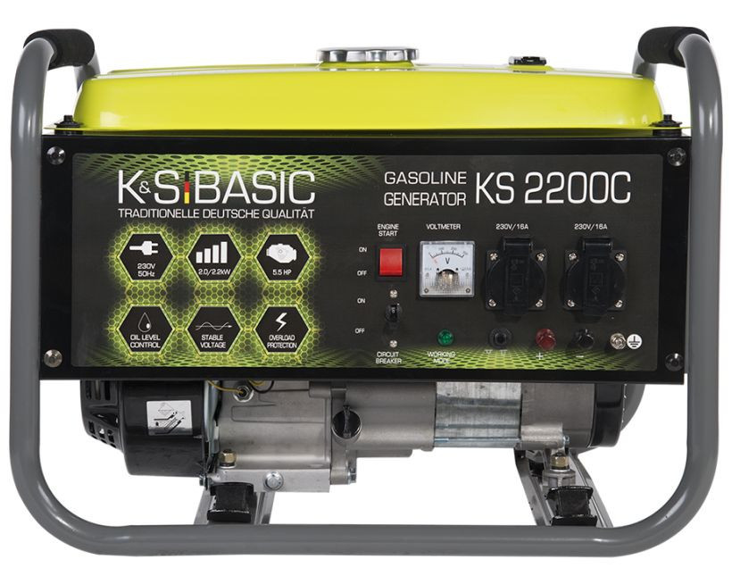 Generator de curent 2.2 kW benzina BASIC LINE - Konner & Sohnen - KSB-2200C imagine Konner & Sohnen albertool.com