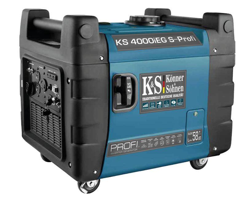 Generator de curent 4 kW inverter PROFI - HIBRID (GPL + Benzina) - insonorizat - Konner & Sohnen - KS-4000iEG-S-Profi imagine Konner & Sohnen albertool.com