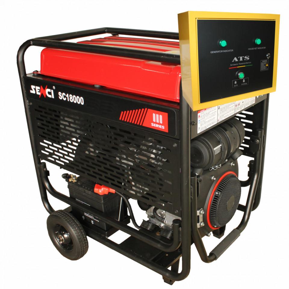 Generator de curent monofazat Senci SC18000-ATS Putere max. 17 kW imagine SENCI albertool.com
