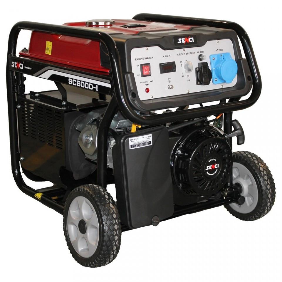Generator de curent Senci SC-6000E, 5500W, 230V - AVR inclus, motor benzina cu demaraj electric imagine SENCI albertool.com