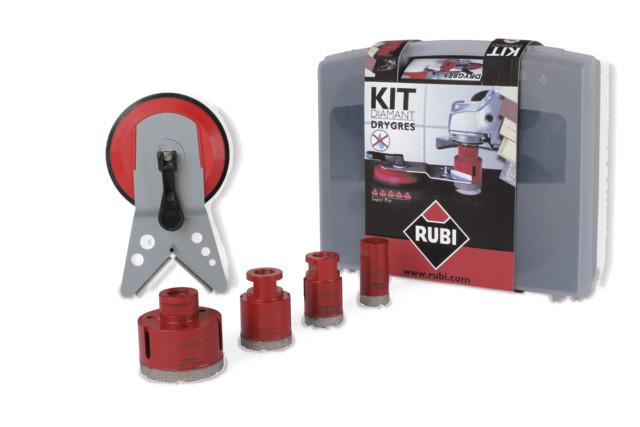 Kit carote diamantate DryGres 28, 35, 43, 68mm, 4buc. - RUBI-50917 imagine RUBI albertool.com