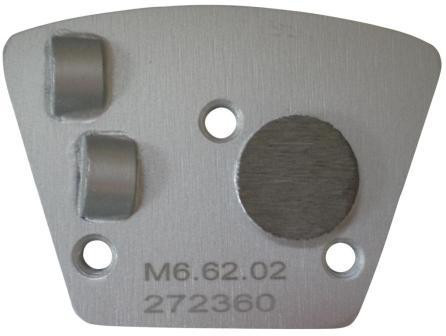 Placa cu segmenti diamantati pt. slefuire pardoseli - segment DPC 2x1/4 - prindere M6 - DXDH.8506.73.02-R DiamantatExpert