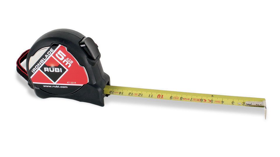 "Ruleta fier 16.4 ft. x 3/4"" (5 m x 19 mm), marcaj dublu - RUBI-75909 RUBI"