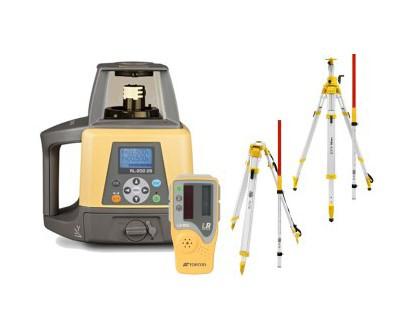 SET Laser rotativ RL-S200 2S, stadie, trepied, senzor laser pentru utilaje LS-B110 - Topcon Topcon