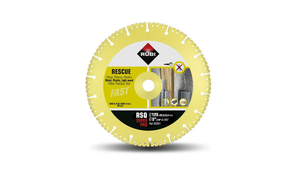 Disc diamantat pt. descarcerare 125mm, RSQ 125 Super Pro - RUBI-30901 RUBI