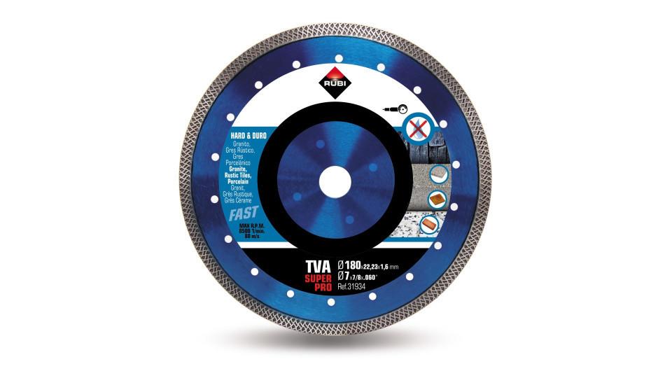 Disc diamantat pt. materiale foarte dure 180mm, TVA 180 SuperPro - RUBI-31934 imagine 2021