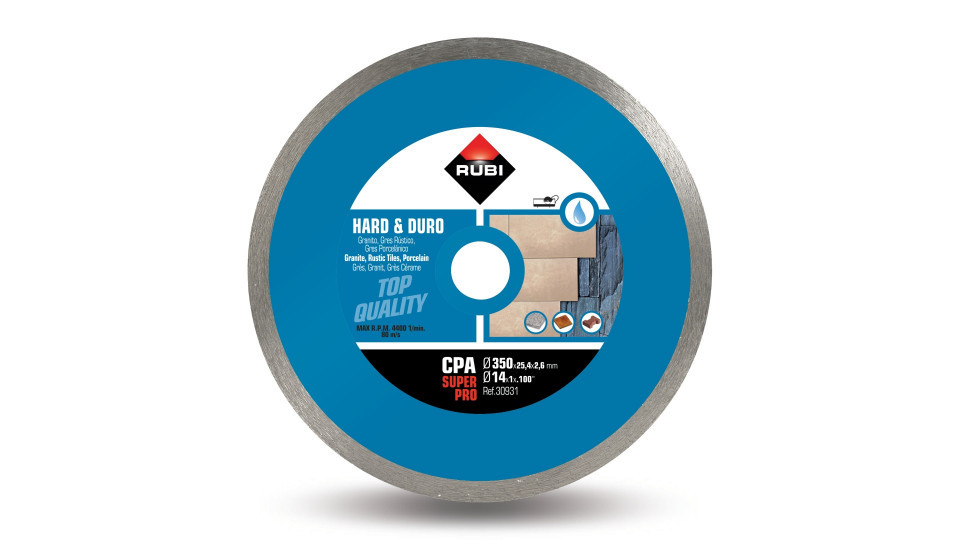 Disc diamantat pt. materiale foarte dure 350mm, CPA 350 SuperPro - RUBI-30931 RUBI