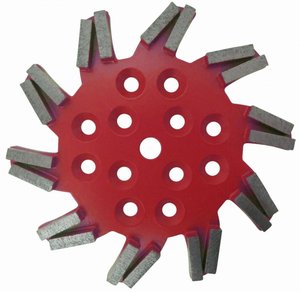 Disc stea cu segmenti diamantati pt. slefuire pardoseli - segment fin - Rosu - 250 mm - prindere 19mm - DXDH.8501.250.11.63 DiamantatExpert