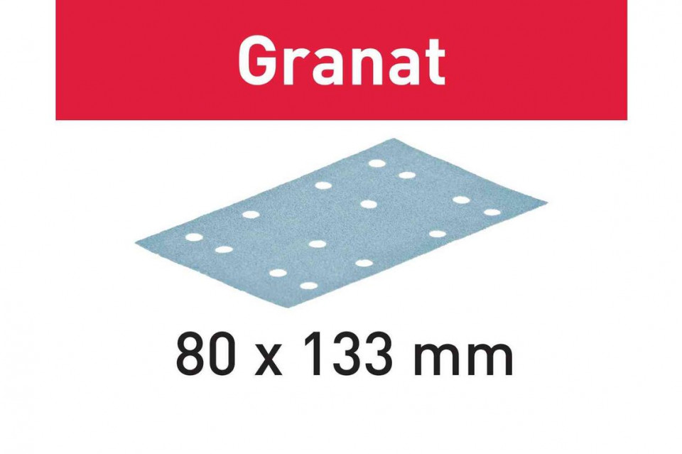Foaie abraziva STF 80X133 P100 GR/100 Granat imagine Festool albertool.com