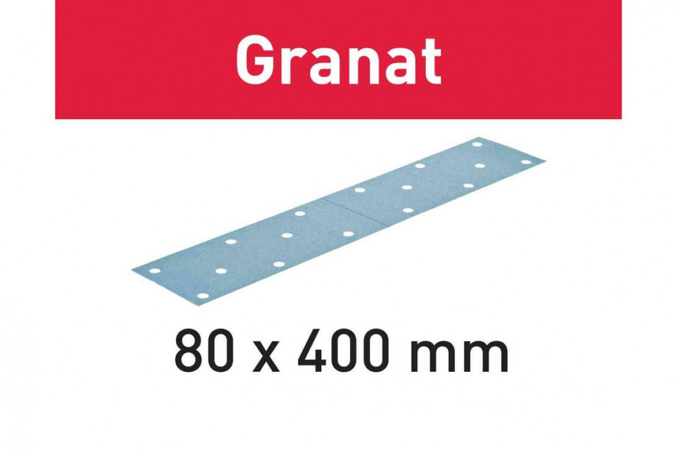 Foaie abraziva STF 80x400 P40 GR/50 Granat imagine Festool albertool.com
