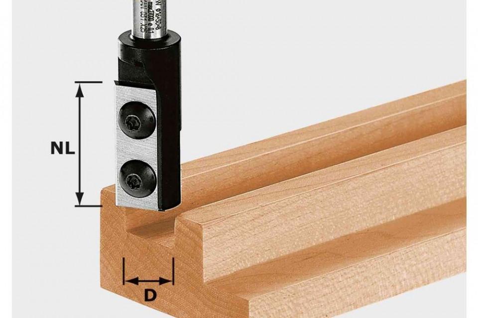 Freză de canelare cu plăcuţe amovibile HW S8 D10/25 WP Z1 imagine Festool albertool.com