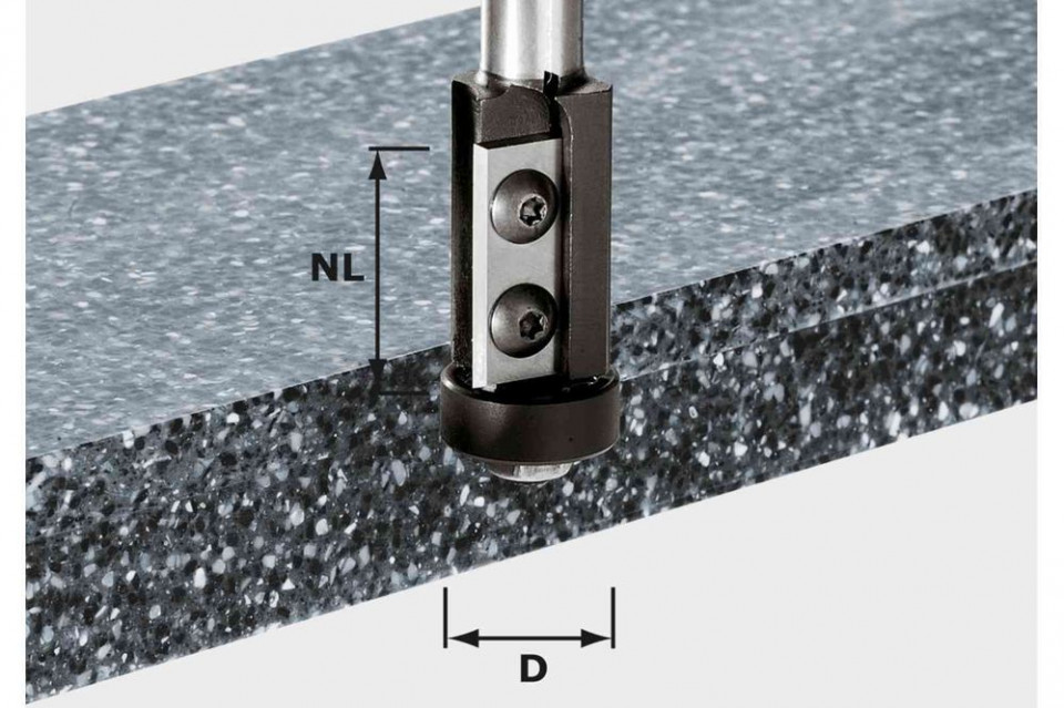 Freză pentru frezarea coplanară, cu plăcuţe amovibile HW S12 D21/30WM imagine Festool albertool.com