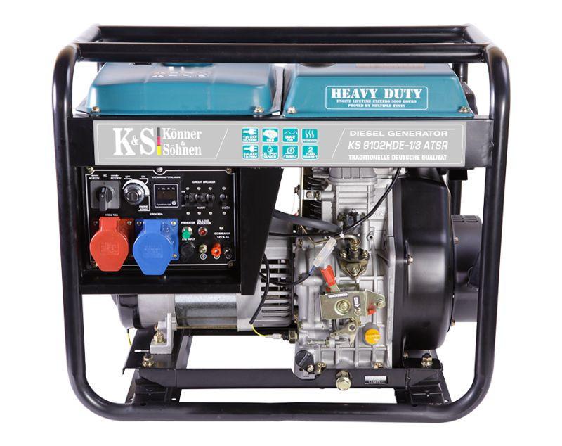 Generator de curent 7.5 kW diesel - Heavy Duty Euro 2 - Konner & Sohnen - KS-9102DE-1/3-HD-ATSR imagine Konner & Sohnen albertool.com