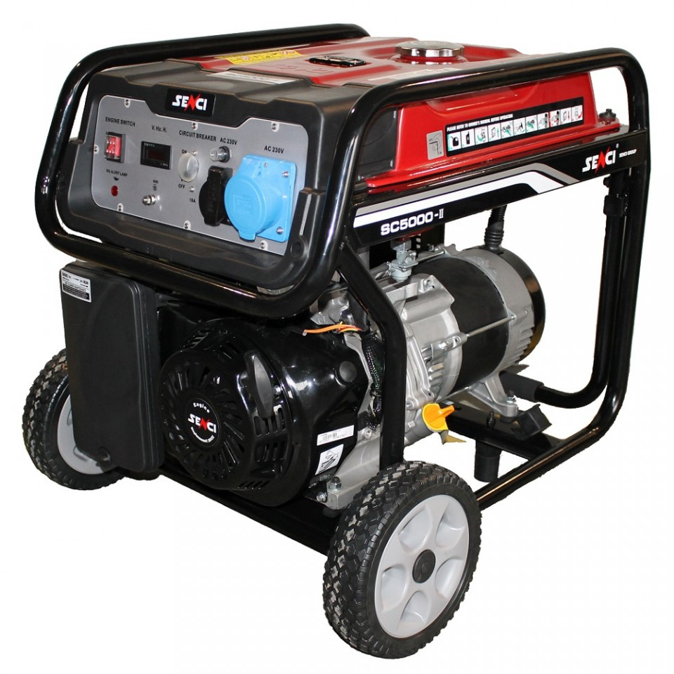 Generator de curent Senci SC-5000, 4500W, 230V - AVR inclus, motor benzina imagine SENCI albertool.com