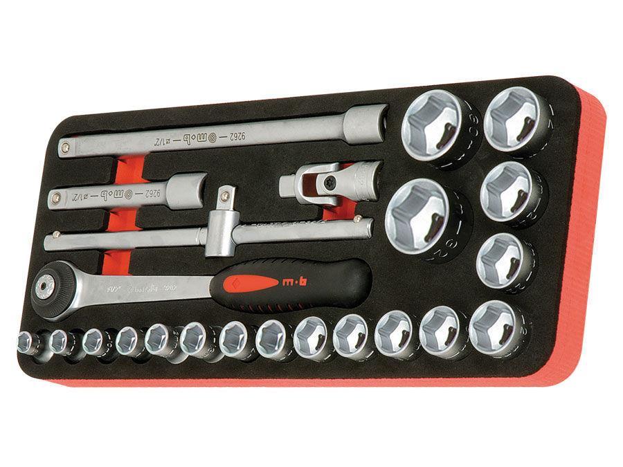 "Modul OSC cu 23 capete tubulare si accesorii 1/2"" DH 23 scule imagine MOBIUS - BRASOV albertool.com"