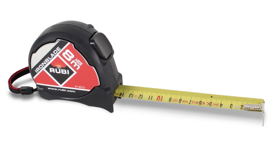"Ruleta fier 26.2 ft. x 10"" (8 m x 25 mm) - RUBI-75905 RUBI"