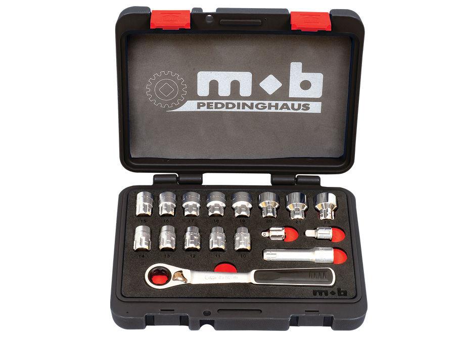 Trusa 17 capete si accesorii M-TRAVERSANT BAZA 265×220×55 imagine MOBIUS - BRASOV albertool.com