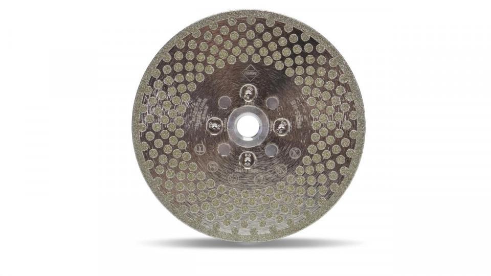 Disc diamantat galvanizat pt. taiat si slefuit 115mm, ECD 115 2in1 SuperPro - RUBI-31964 RUBI
