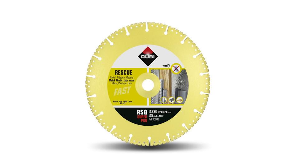 Disc diamantat pt. descarcerare 230mm, RSQ 230 Super Pro - RUBI-30902 RUBI