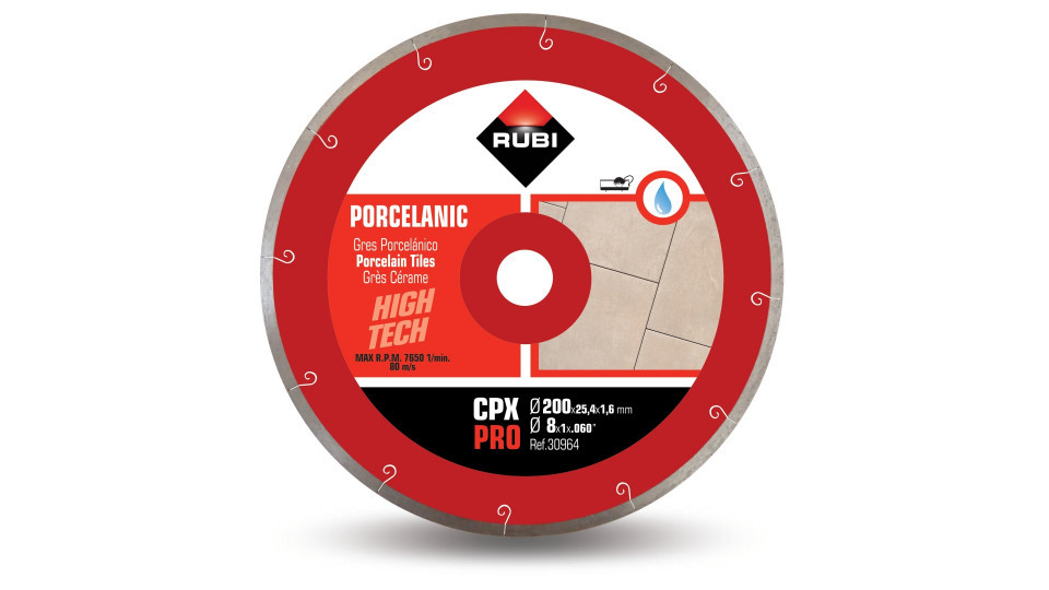 Disc diamantat pt. gresie portelanata 200mm, CPX 200 Pro - RUBI-30964 RUBI